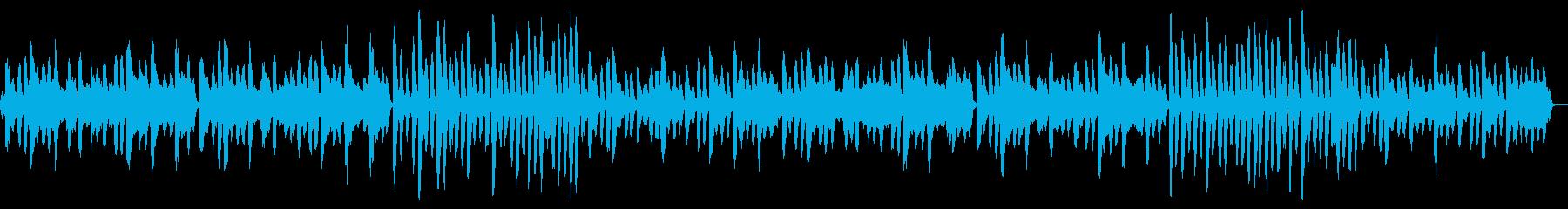 ピアノとチェロをフィーチャーした軽...の再生済みの波形