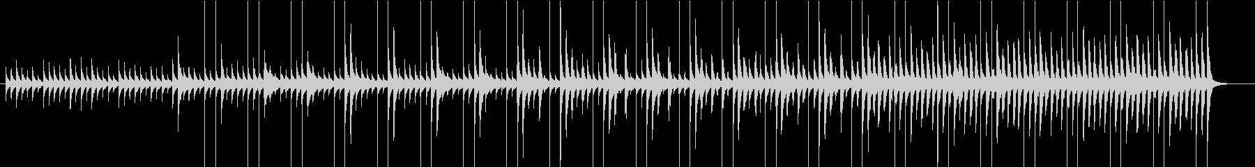 モダンで可愛いCMの未再生の波形