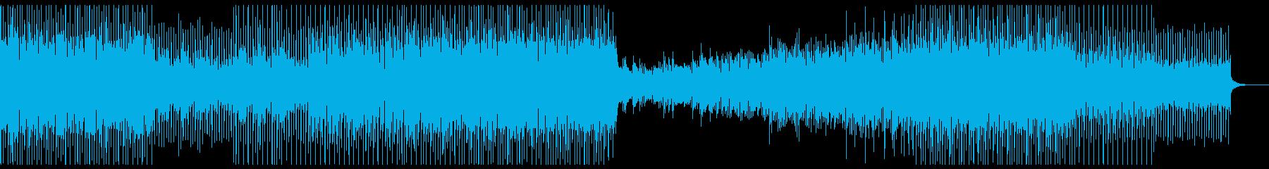 ピアノとシンセが絡み合う宇宙的なトランスの再生済みの波形