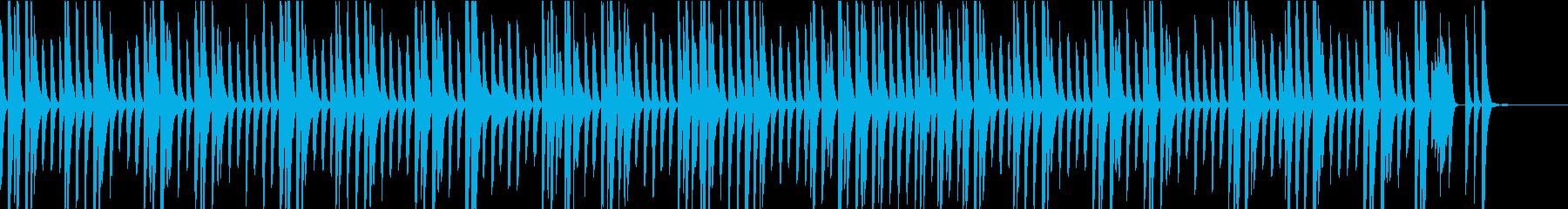 可愛らしいBGM。日常、ペット動画向けの再生済みの波形