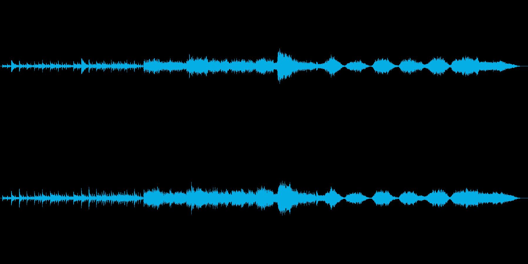 ゆったりとしたギター曲の再生済みの波形