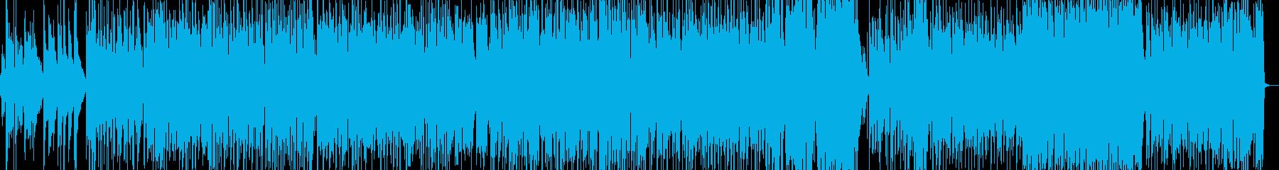ミディアムテンポのノリのいい曲の再生済みの波形