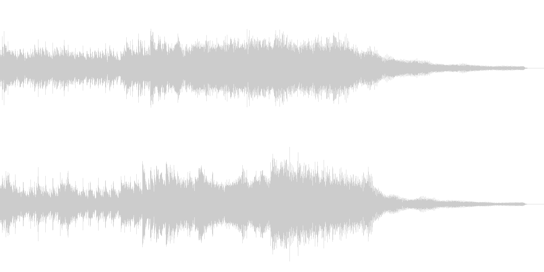 狂い溶ける和風ジングル31-ピアノソロの未再生の波形
