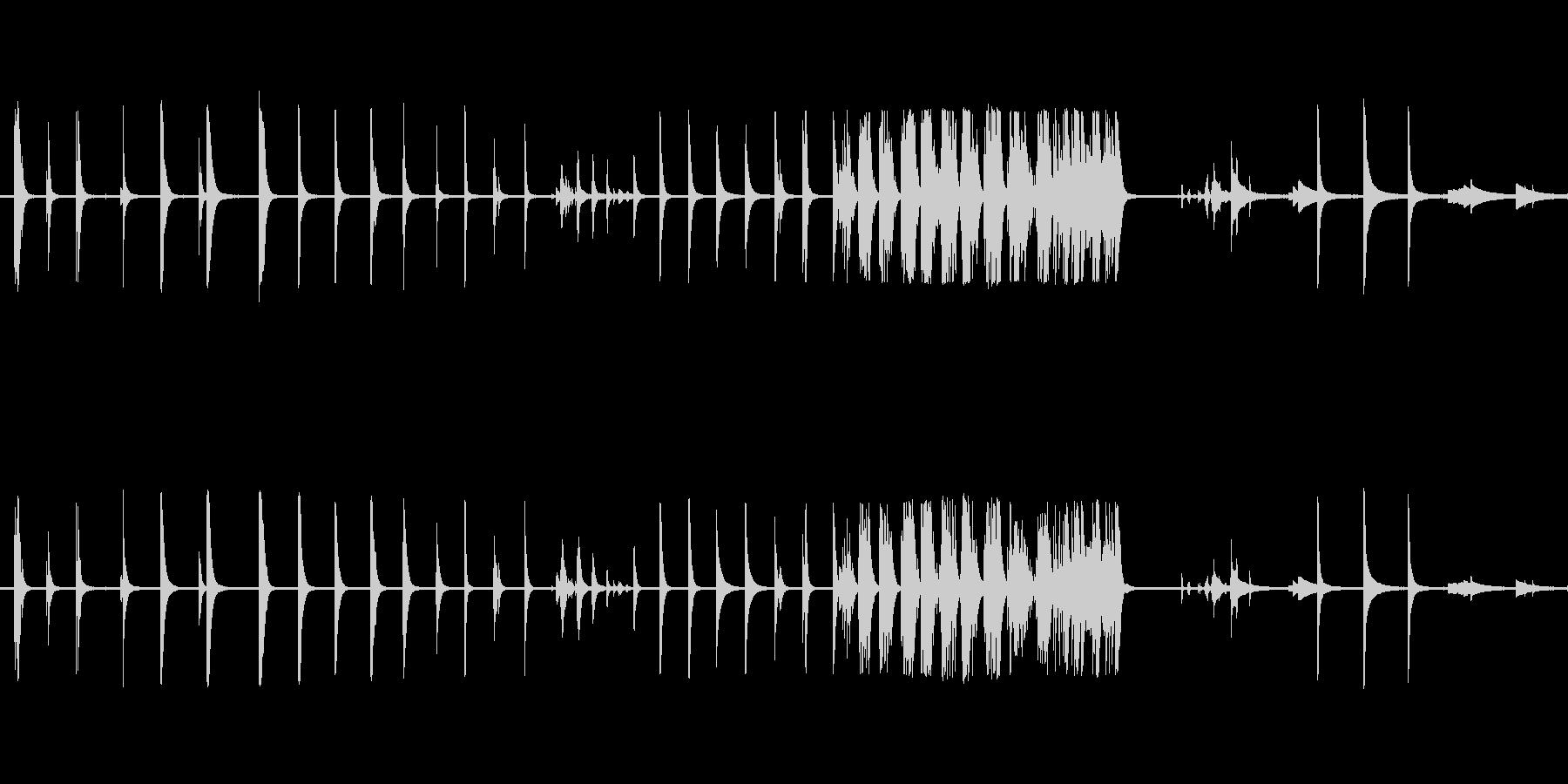 ベルテンプルリングアウトの未再生の波形