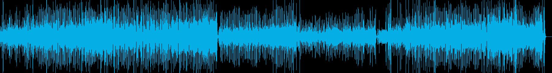 アップテンポで賑やかなラテンポップスの再生済みの波形