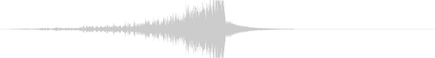 ドラマティックなリバース音41-01の未再生の波形