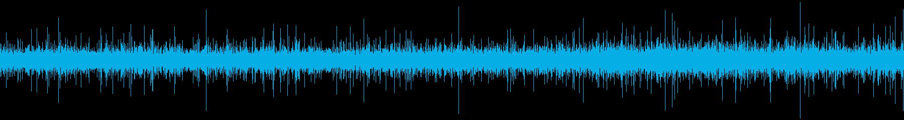 川のせせらぎと秋の虫の声の再生済みの波形