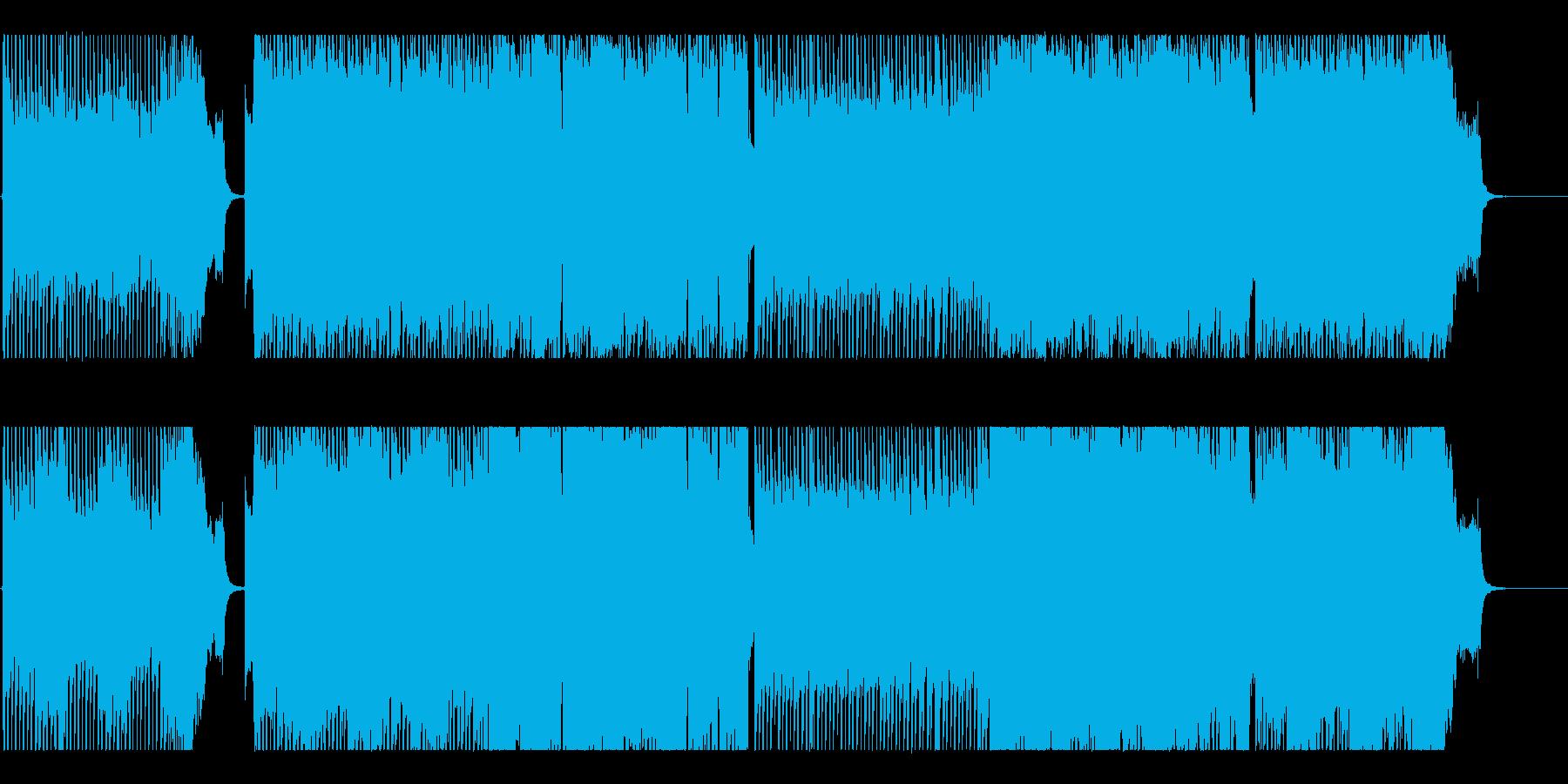 激しいロックバンド。勢い疾走系BGMの再生済みの波形