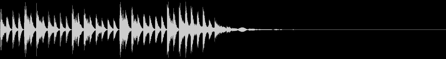 ズンタタズンタタ…ピーン(アイキャッチ)の未再生の波形