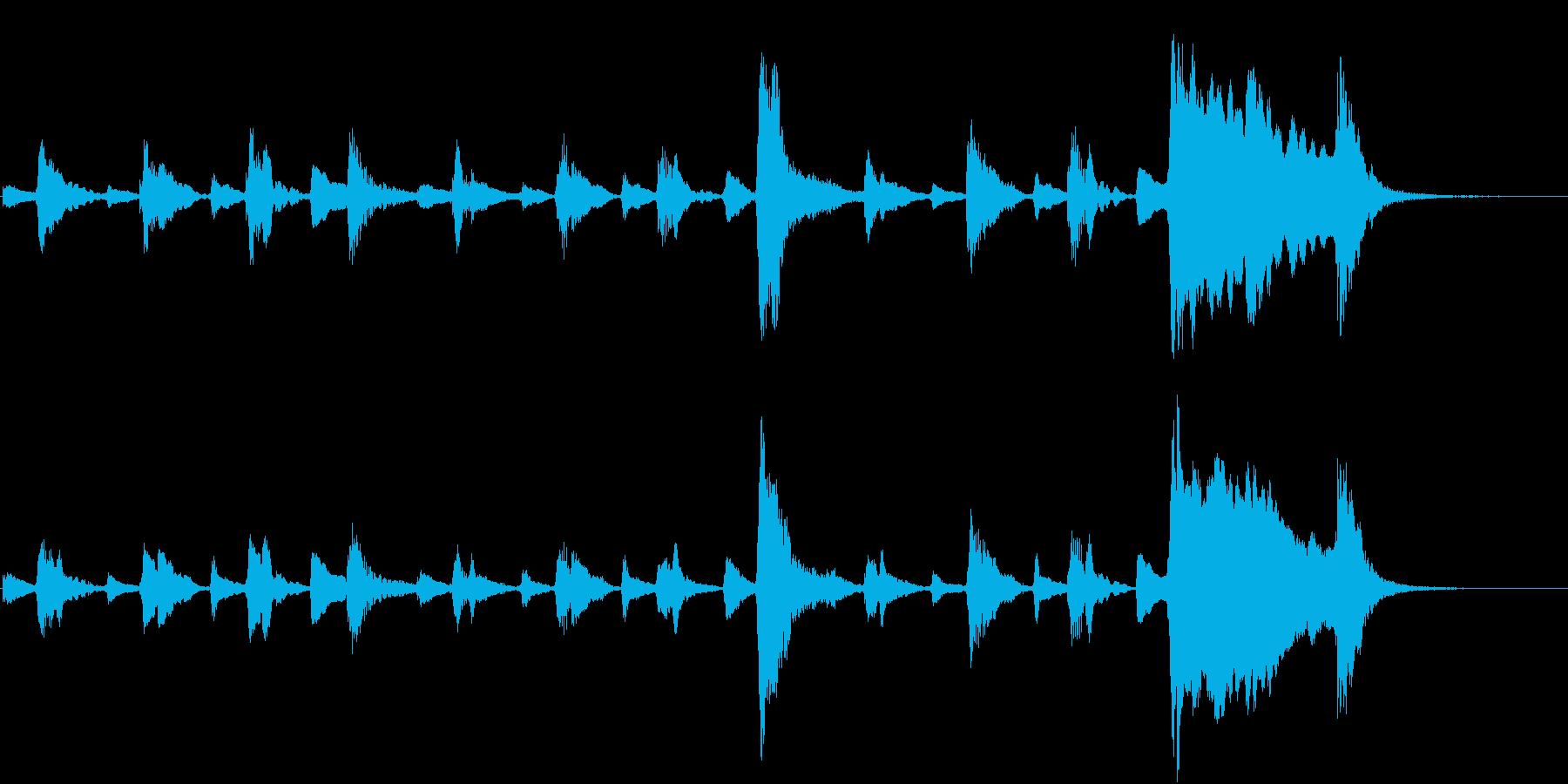 トムとジェリー風なアニメ音楽「忍び足」3の再生済みの波形