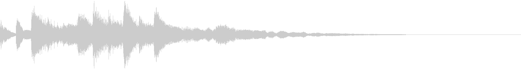 ゲームアニメCM向けしっとりしたジングルの未再生の波形