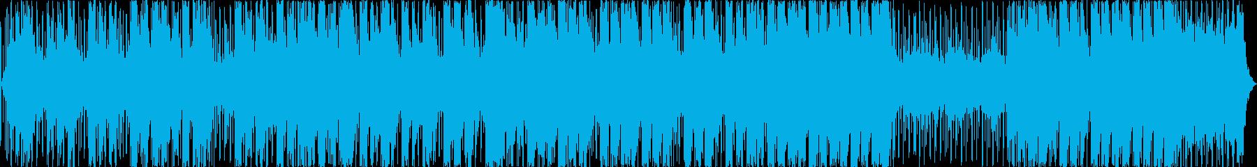 シーケンス 電子グリッチビート02の再生済みの波形