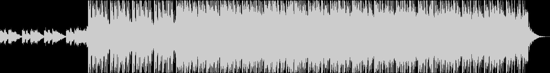 ピアノとギターのリズミカルなオープニングの未再生の波形