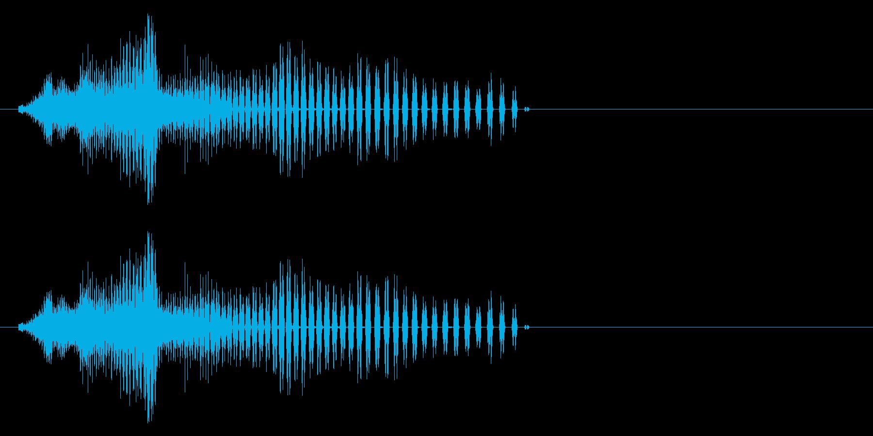 チャープサーボ、ロボットペイン、ド...の再生済みの波形