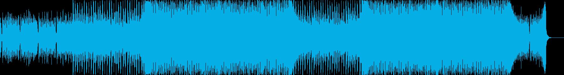 企業VP向け、爽やかポップ4つ打ち8-1の再生済みの波形