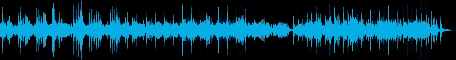 儚くて切ないピアノバラード曲の再生済みの波形