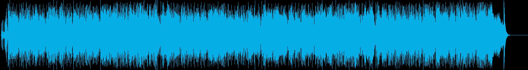 青い空とダイナミックスポーツのイメージの再生済みの波形