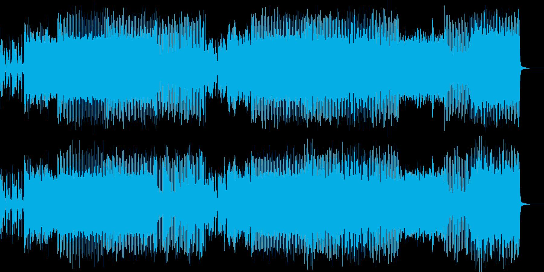 楽しく飛び回るようなエレクトロニカの再生済みの波形