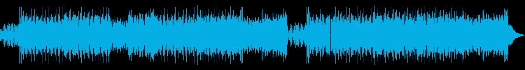 攻撃的でアゲアゲなEDMビートの再生済みの波形