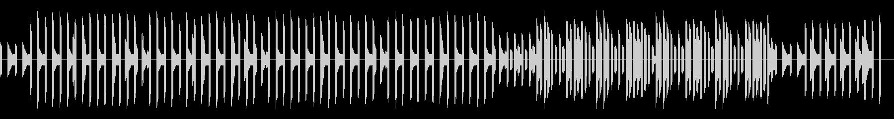 熱血ヒーロー的なレトロゲーム風BGMの未再生の波形