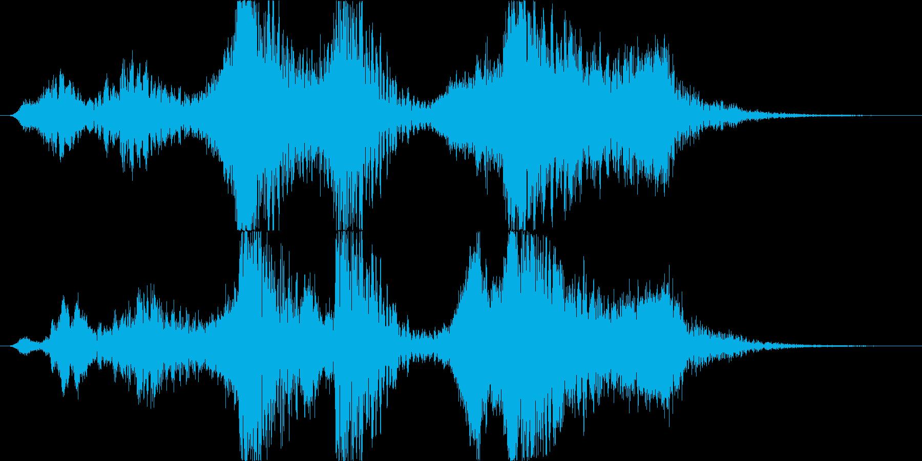 スペル 邪悪な闇01の再生済みの波形