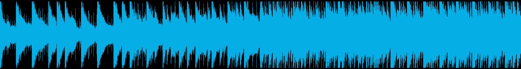 夜空の下で、どこか孤独な優しいBGMの再生済みの波形