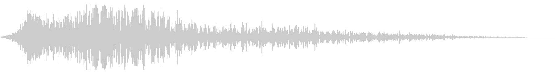 Impact sound (image of shock, gust)'s unreproduced waveform