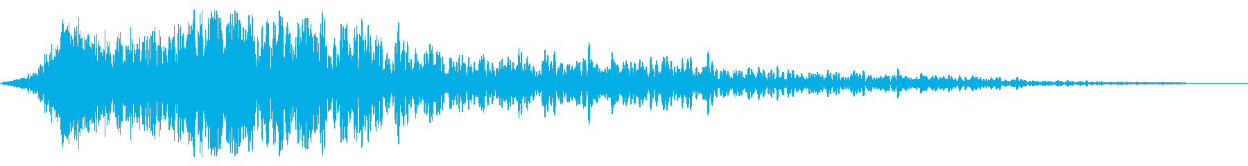 Impact sound (image of shock, gust)'s reproduced waveform