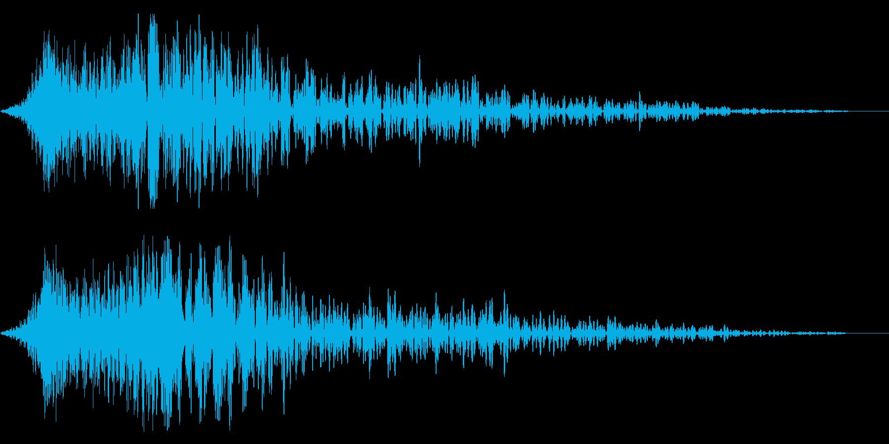 インパクト音(衝撃、突風のイメージ)の再生済みの波形