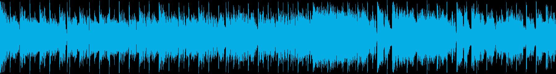 【ループ再生】渋いテイストのEDMの再生済みの波形