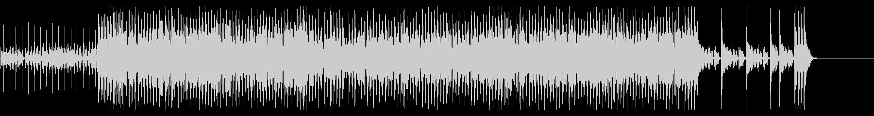 ジャズ系アップテンポのシャッフル曲の未再生の波形