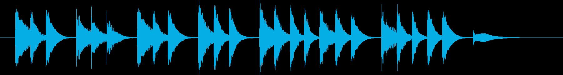 木琴で作った明るく短いジングルの再生済みの波形