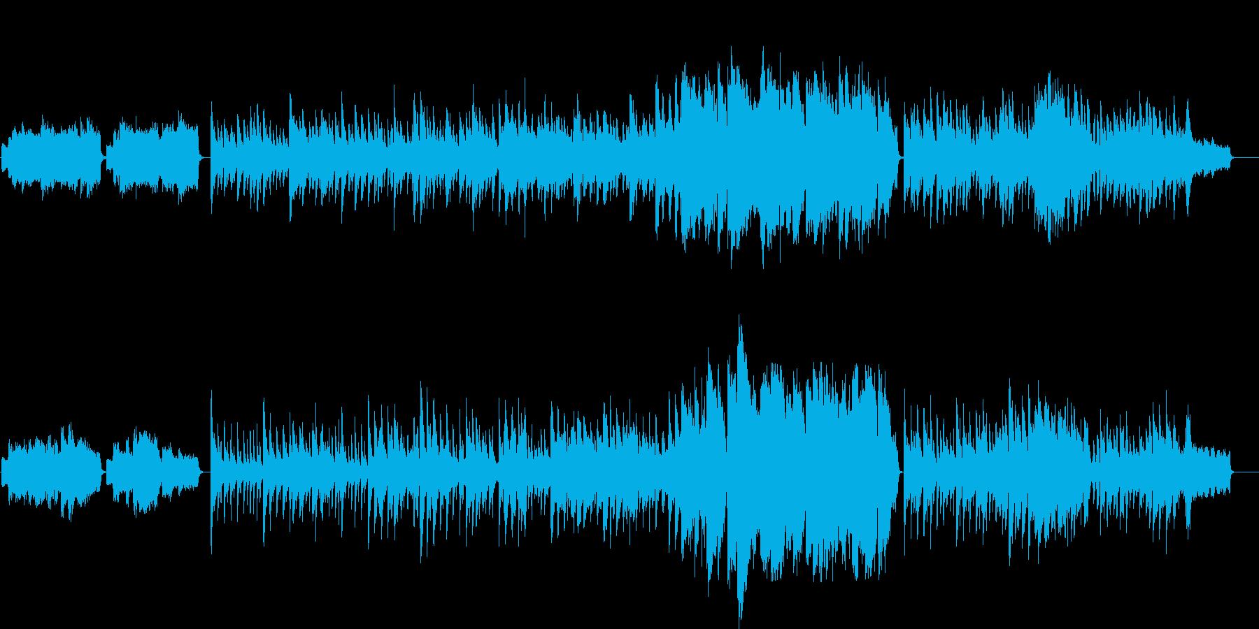 泣ける感動的なノスタルジックなバラードの再生済みの波形