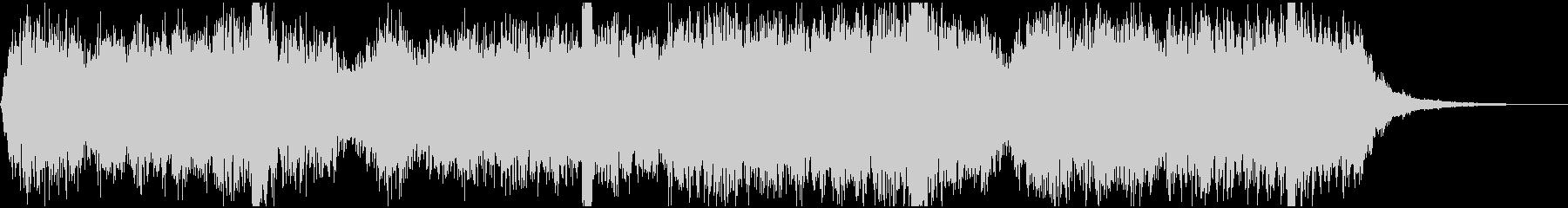 厳かな雰囲気のBGMの未再生の波形