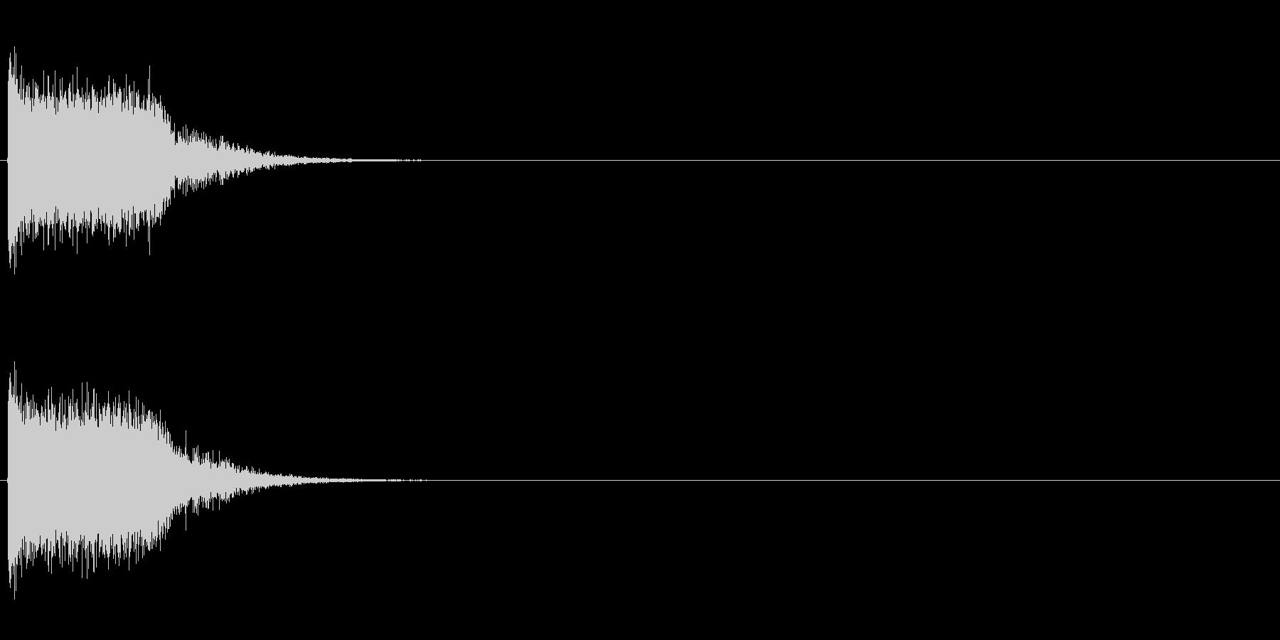 「ギューン!」レーザービーム発射5の未再生の波形