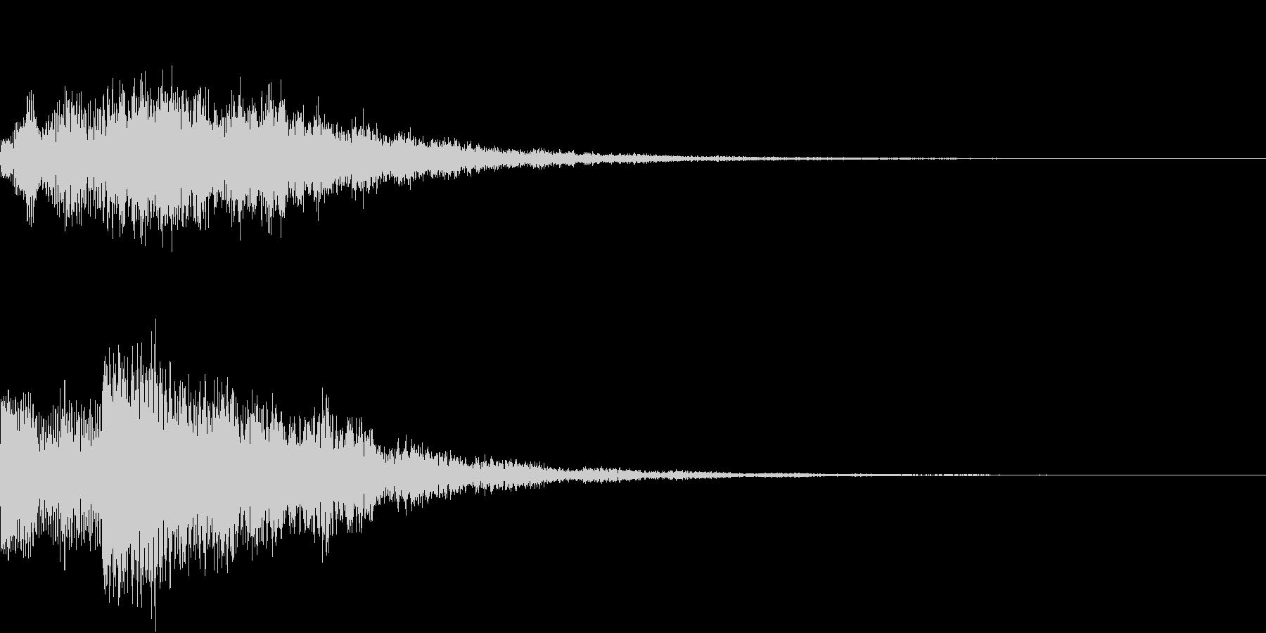 バブルヒット低ボーカルトーンとベルのロゴの未再生の波形