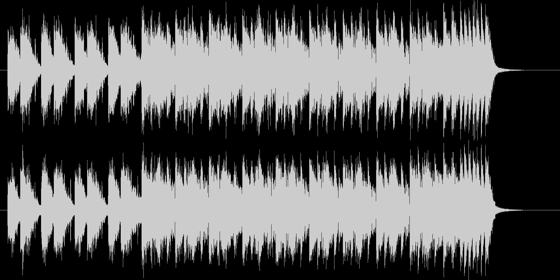 躍動感ある滑らかなシンセポップジングルの未再生の波形