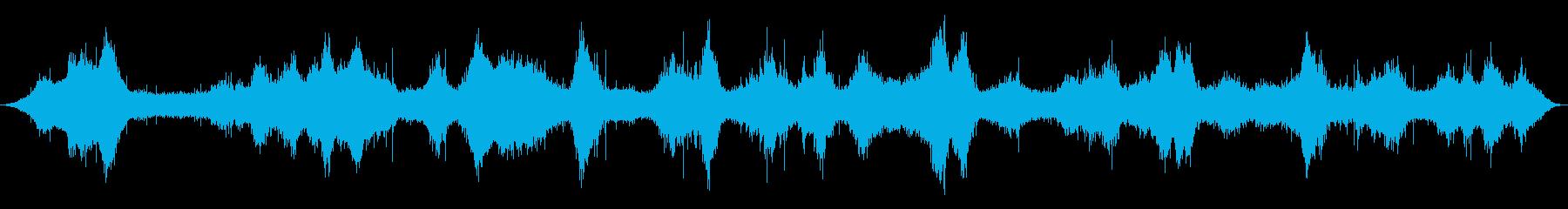 オーシャン:波が中程度の速さで、岩...の再生済みの波形