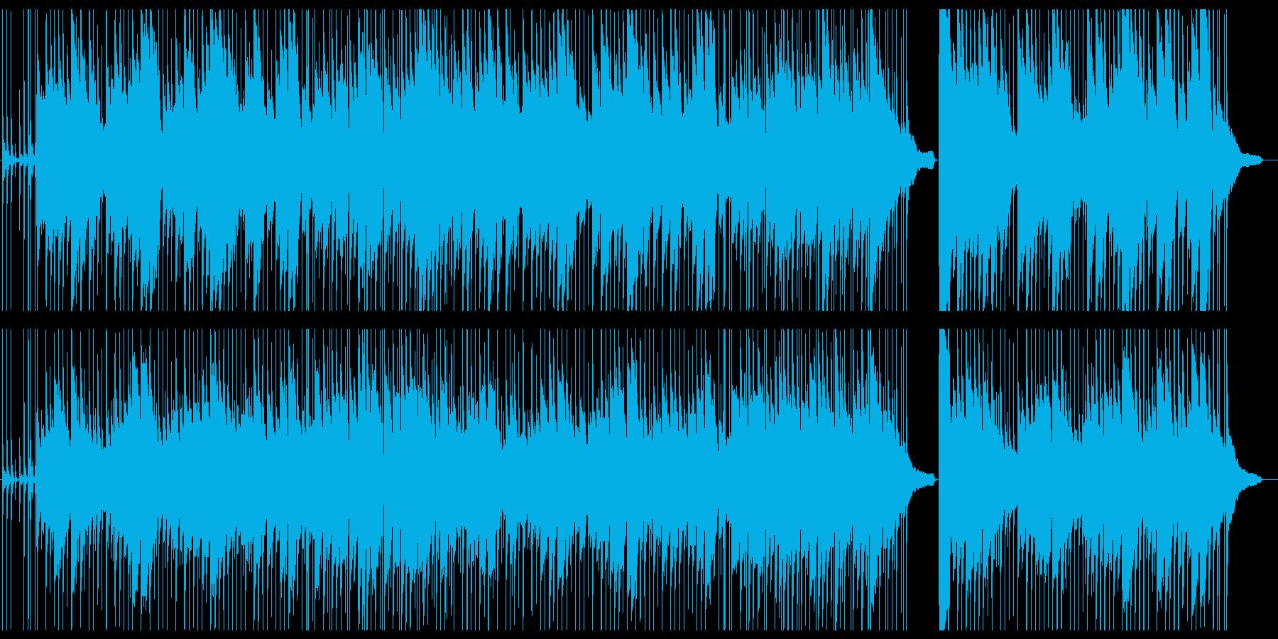 ゆったりした沖縄風ピアノメイン楽曲の再生済みの波形