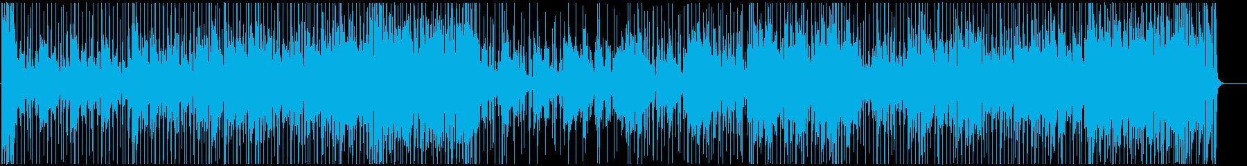 おしゃれなジャズフュージョンBGMの再生済みの波形