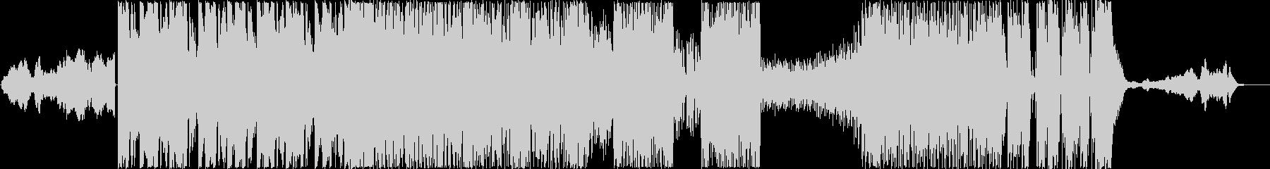バトルラウンドBGMの未再生の波形