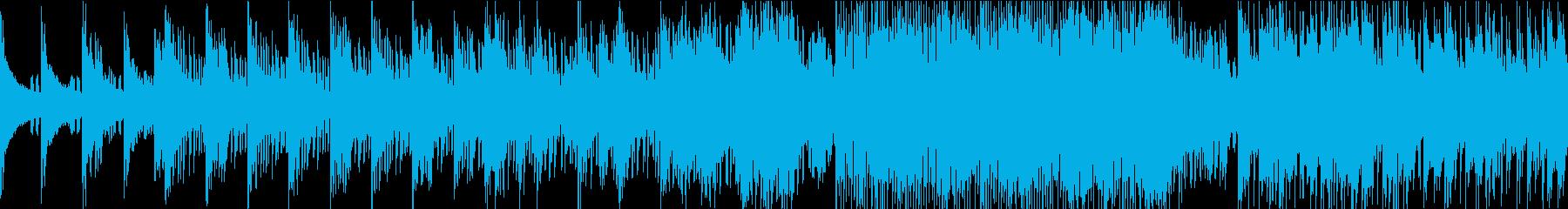 クールな疾走感あるエレクトロループBGMの再生済みの波形