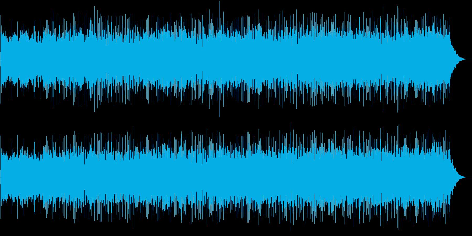 さわやかな雰囲気のBGMの再生済みの波形