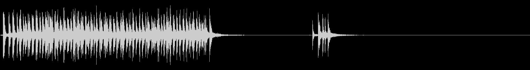 [生音]セロハンテープを使う音08の未再生の波形