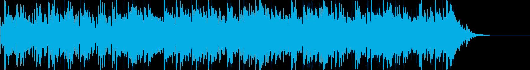 静けさの中で重なり合う音の再生済みの波形