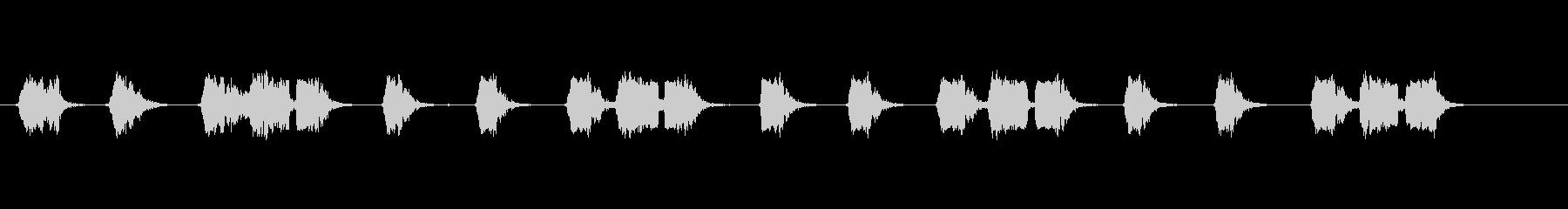 沖縄民謡やエイサーに頻繁に登場する指笛の未再生の波形