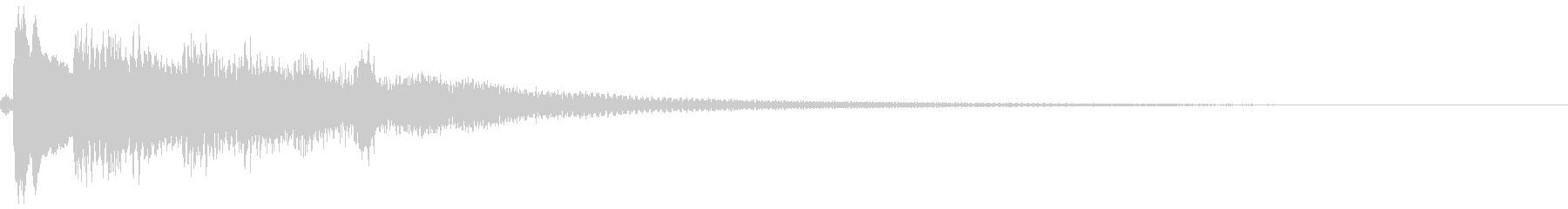 和風「タララララララン」琴のロゴ音1の未再生の波形