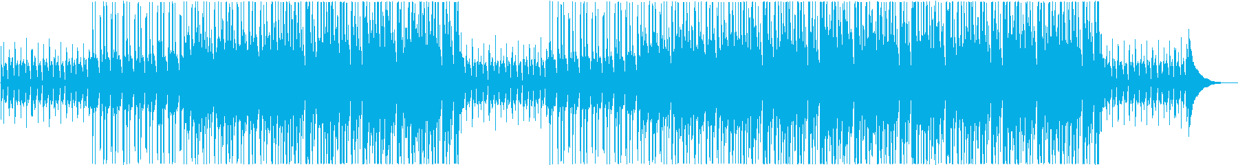 かわいいおしゃれな楽しいオープニングの再生済みの波形