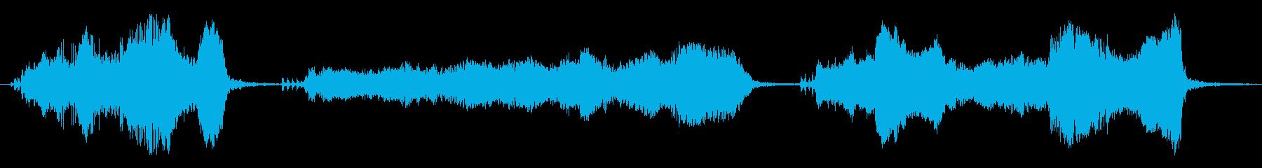 豚の悲鳴、嘆きx3の再生済みの波形