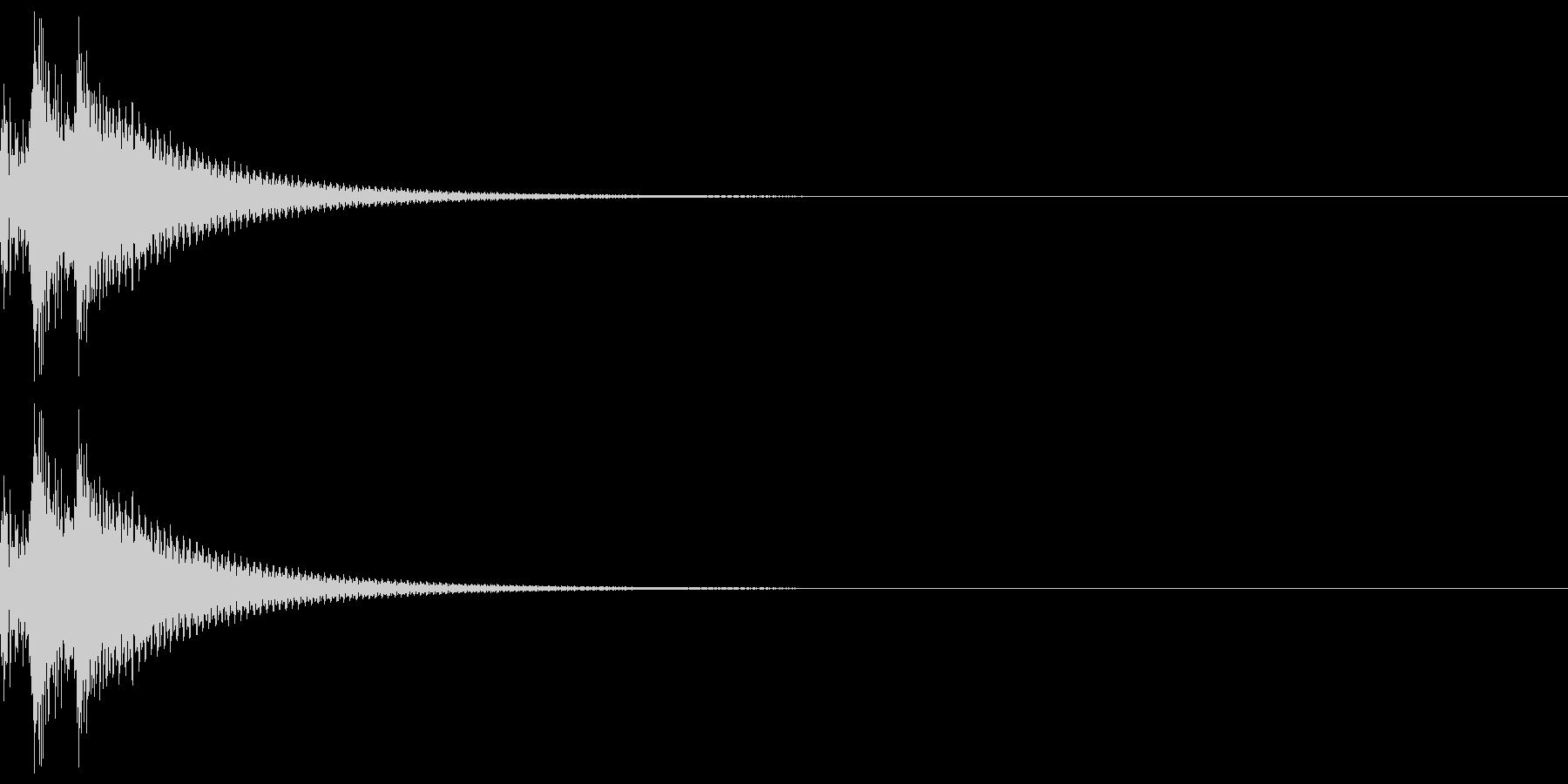 しっくりくるゲーム操作音01_キャンセルの未再生の波形